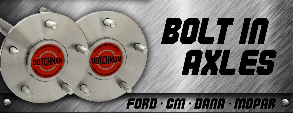Bolt in axle banner
