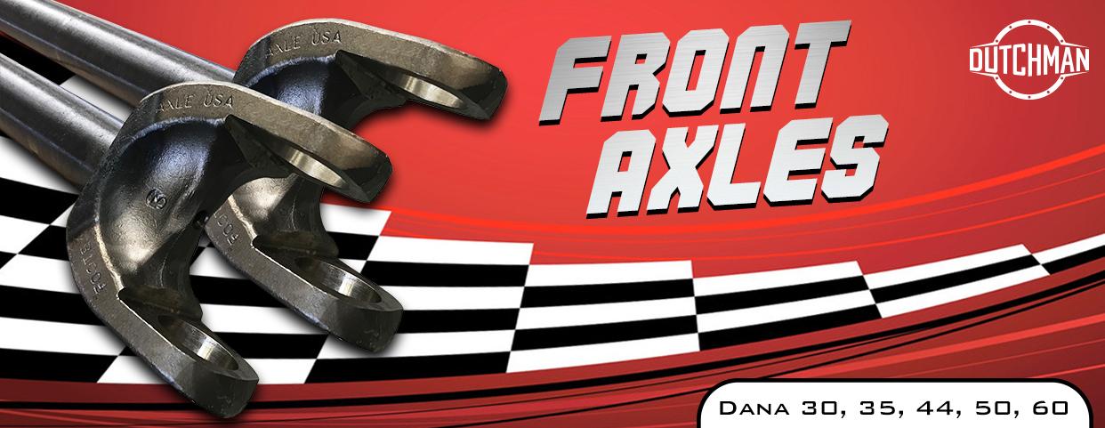 Custom front inner & outer axles
