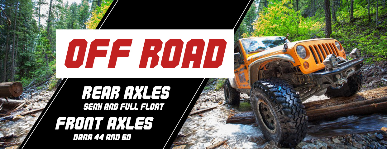 Off road axle shafts